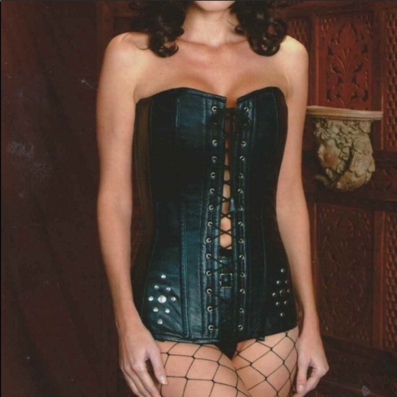 Alter Ego Other - Steel boned leather corset Renn Sca Steampunk LARP